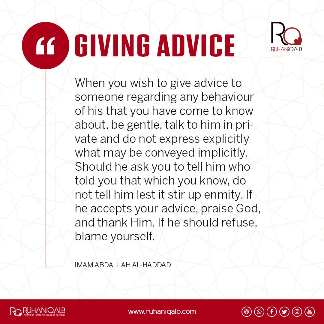 Giving Advice by Imam Abdallah al-Haddad