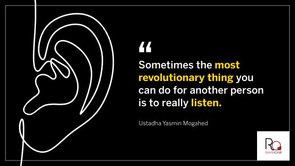 Listen by Ustadha Yasmin Mogahed